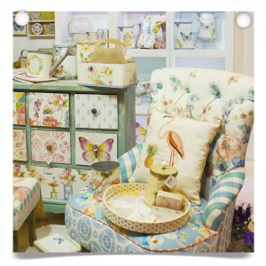Fleur floral furniture at Spring Fair