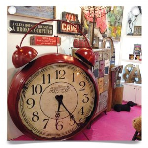 Big red alarm clock product at Spring Fair