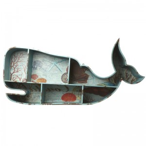 Blue whale wall shelf unit