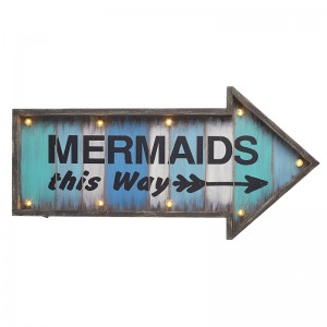 Mermaids this way LED sign