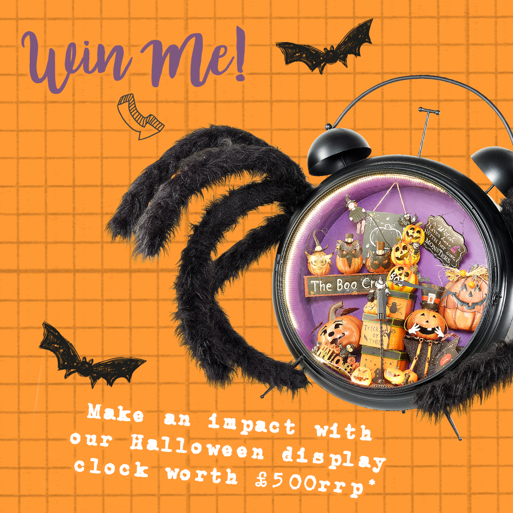 Halloween Competition! Win our Spider Display Clock